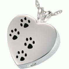 I need to find the perfect pendent for my love. I need to keep him close to my heart always. And this is a beautiful way to do so! Cancer may have torn us apart, but he'll forever be in my heart and memories! Just a nice way to exemplify it!  Paw Prints on my Heart - 14K White Gold Pet Cremation Pendant
