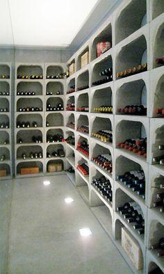 Interieur-beton,wijnnissen en betonnen tuinmeubilair Ambuton Wevelgem. - Wijnnissen beelden