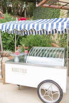 Ice Cream Cart  - Carnival Party Theme {So Eventful}