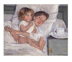 Mary Cassatt Breakfast in Bed oil painting for sale; Select your favorite Mary Cassatt Breakfast in Bed painting on canvas or frame at discount price. Mary Cassatt, Edgar Degas, Manet, Breakfast In Bed, Fine Art, Painting & Drawing, Art History, Amazing Art, Awesome