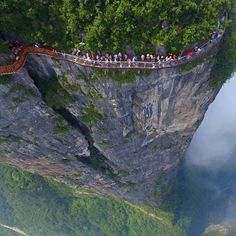 Photo: WOW Glass trail in the mountains Tyanman in China