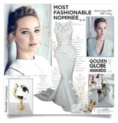 """""""Dress Your Favorite Golden Globe Nominee"""" by lilly-2711 ❤ liked on Polyvore featuring Christian Dior Haute Couture, Charlotte Olympia, Pandora, GoldenGlobes, Dior, CharlotteOlympia, jenniferlawrence and Aquazzura"""