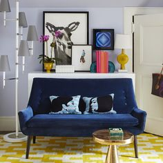 Mrs. Godfrey Settee, designed by Jonathan Adler   Living Room Ideas. Living Room Inspiration. Two Seat Sofa. #livingroomideas #twoseasofa #modernsofas Discover our beautiful collection of two seat sofas at: http://brabbu.com/en/upholstery