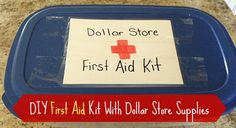 How to Make a First Aid Kit with Dollar Store Supplies {DIY} - DollarStoreHouse.com