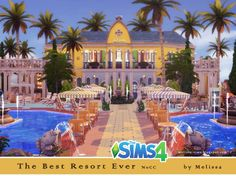 Melissa Sims 4: The Best Resort Ever NoCC • Sims 4 Downloads