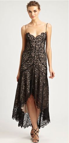 Nicole Miller black lace dress