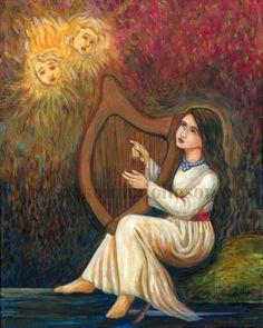 Saint Cecilia - Christian Martyr - Patron of Musicians - Fine Art Print - Catholic Art Catholic Crafts, Catholic Art, Roman Catholic, Religious Art, St Cecelia, Michael Art, Bride Of Christ, Archangel Michael, Musical