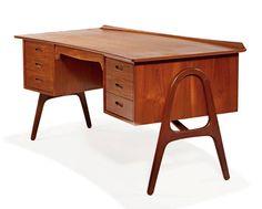 desk designed by Svend Aage Madsen and produced bu Sigurd Hansen Møbelfabrik of Denmark in the 1950's