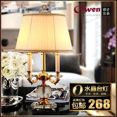 Fashion europe europe base fabic lampshade Table Lamps  for Home Parlor Dining bed Room  #Affiliate