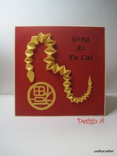 Handmade 3D Year of the Snake Chinese New Year card - 2013. $10.00, via Etsy.