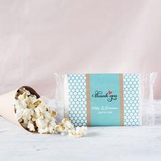 Personalized Wedding Microwaveable Popcorn Bag