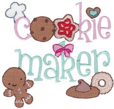 Cookie Taster Machine Embroidery Designs