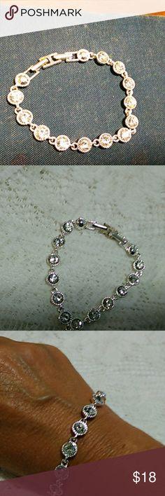 Avon Tennis Bracelet Silver tone Avon tennis bracelet Avon Jewelry Bracelets