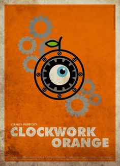 clockwork orange minimalist movie poster