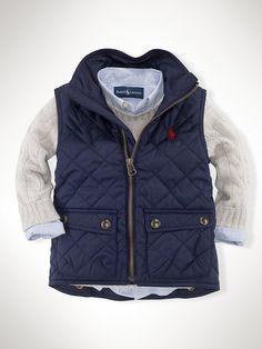 Richmond Pony Bomber Vest - Outerwear & Jackets Infant Boy