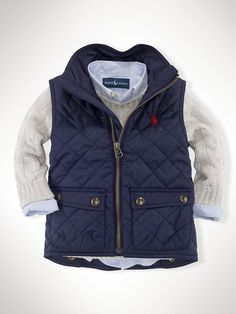 Richmond Pony Bomber Vest - Outerwear & Jackets Infant Boy