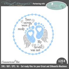 Your Wings Were Ready My Heart Was Not Baby Feet Floating Ornament Design Lettering Design, Hand Lettering, Ornaments Design, Ornaments Ideas, Bereavement, Silhouette Machine, Baby Feet, Vinyl Designs, Design Bundles