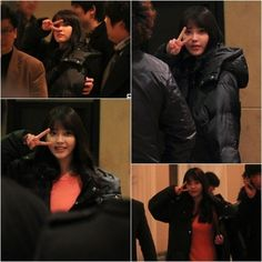 IU gives aegyo-ful fan service after press conference ~ Latest K-pop News - K-pop News | Daily K Pop News
