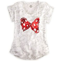 Minnie Mouse Bow Tee for Women | Tees, Tops & Shirts | Disney Store