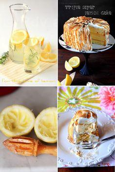 Viele Zitrone und Displays zu hausgemachten Kuchen!