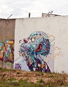 Collection of awesome street art, wall murals, freewalls & graffiti urban art on Mr Pilgrim Art Online Best Street Art, Amazing Street Art, 3d Street Art, Street Art Graffiti, Street Artists, Urban Graffiti, Graffiti Murals, Murals Street Art, Graffiti Face