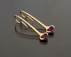 Richard Messina Designs wishbone earrings..Shown with amethysts (available in many colored gemstones)