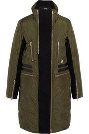 M MissoniWool blend-paneled shell coat
