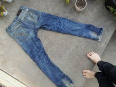 imperial shearer japanese selvedge raw denim worn for 2 years with 4 washes