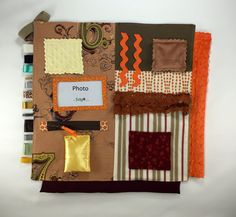 Brown, Orange, and Tan -- Activity blanket for Alzheimer's | Dementia | Sensory Disorders by TheFidgitShoppe
