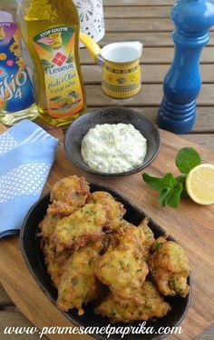 Beignets de Courgettes à la Turque, recette de Fred Chesneau | Parmesan et Paprika