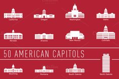 Check out US State Capitol Buildings by bhj on Creative Market