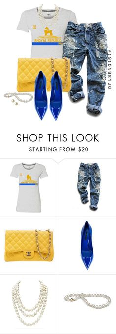 """""""Sigma Gamma Rho"""" by visionsbyjo ❤ liked on Polyvore featuring Levi's, Chanel, Dolce&Gabbana and Carolee"""