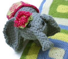loom knit Elephant so cute