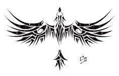 Phoenix Tribal Tattoo Model