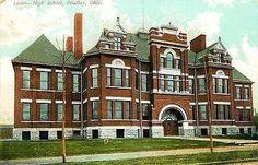 Findlay Ohio OH 1909 High School Collectible Antique Vintage Postcard