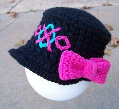 Monster High Inspired Crochet Cadet Style Cap