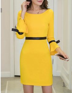 Awesome women dresses are offered on our website. Have a look and you wont be sorry you did. Casual Dresses, Short Dresses, Fashion Dresses, Yellow Dress, Occasion Dresses, I Dress, Dress Patterns, Dress To Impress, Designer Dresses