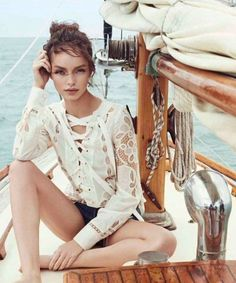 """Beyond the Sea"" Luma Grothe for Harper's Bazaar Mexico June 2015"