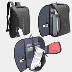 8c559798ad3d3 Securetech Anti Theft Backpack Inteligentny miejski wodoodporny Laptop  Plecak Anti-Theft Usb Ładowanie Travel Antitheft