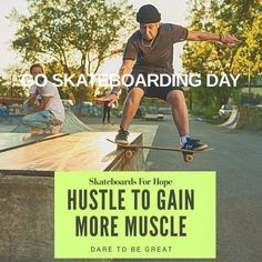 HUSTLE TO GAIN MUSCLE. DARE TO BE GREAT. #goskateboardingday #skatepark #streetskate #streetstyle WITH #ambassador @chloemorinjuneau WHO INSPIRES AND FIRES  UP GNARLY! #sportlife #skatepunk #skateboardingisfun #skateboardlover #skateboarding #skateboardsforhope #healthylifestyle [ Photo courtesy of @ayaimages ] #girlshred #girlsonskates #givehope #summertime #p45 #godmotherapproved #montreal #jackalopefest