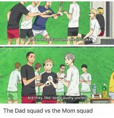 Haikyuu!! Mom vs. Dad Squad