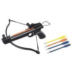 Amazon.com : Tactical Crusader Hand Held Hunting Archery 50LB Pistol Crossbow Gun : Sports & Outdoors