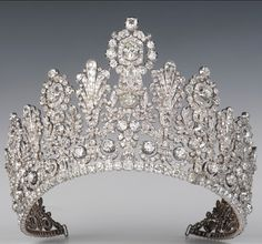 The Luxembourg Empire Tiara was made in the first quarter of the 19th century. It is uncertain when it entered the Nassau (Luxembourg); the original owner is unknown, but it was either made or altered by Frankfurt jeweller Speltz in 1829. Its first documented outing was in 1919, when it was worn by Grand Duchess Charlotte at her marriage to Prince Felix of Bourbon-Parma.