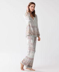 Pantalón indian - Novedades - Primavera Verano 2017 moda de mujer en Oysho online: ropa interior, lencería, ropa deportiva, pijamas, bodies, camisones, complementos, zapatos y accesorios.