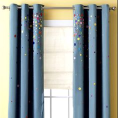 Liven up your curtains with buttons!