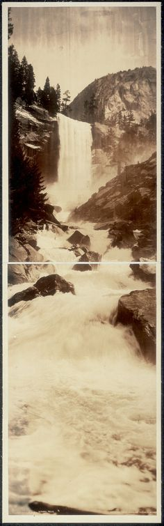 Coyote Atelier love: Vernal Falls, Pillsbury Picture Co., 1908, gelatin silver photographic print