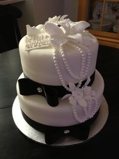 the black & white birthday cake...  sweet mary's. new haven. ct