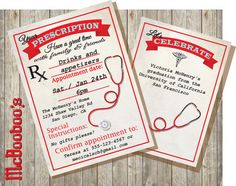 Medical School  or Nursing School Graduation Invitations. Love these!!