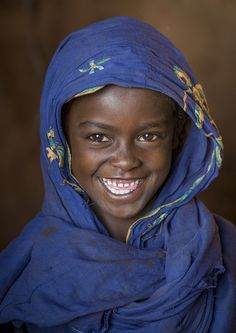 Smiling Borana Tribe Girl, Marsabit District, Marsabit, Kenya