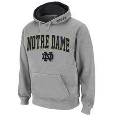 8bc51ae9c3f4 Notre Dame Fighting Irish Stadium Athletic Arch   Logo Pullover Hoodie -  Gray Notre Dame Apparel